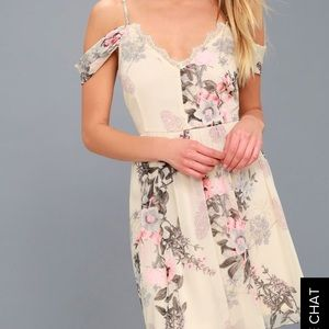 Lulu's cream and floral dress